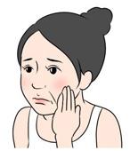 顔のたるみの原因は、加齢や、紫外線、乾燥が主な原因